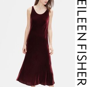 Eileen Fisher dancer dress red velvet large